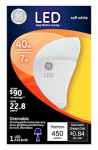 G E Lighting 14194 LED Light Bulb, A19, White, Medium Base, 7-Watt