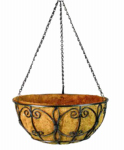 Border Concepts 72847 Wrought Iron Hanging Basket, 14-In.