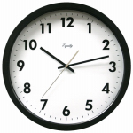 Geneva/Advance Clock 3938GG 13-1/2 Inch Round Quartz-Movement Black Commercial Wall Clock
