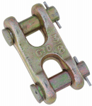 National Mfg/Spectrum Brands Hhi N282-137 Double Clevis Link, Yellow Chromate, 3/8-In.