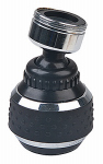 Brass Craft Service Parts SF0330 Spray Faucet Aerator, Dual Thread, Double Swivel, Chrome & Black