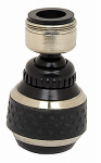 Brass Craft Service Parts SF0331 Spray Faucet Aerator, Dual Thread, Double Swivel, Brushed Nickel & Black Finish