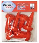 Rebound Driveway Marker 14-001-06 Driveway Marker Mount, Orange Plastic