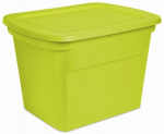 Sterilite 17315F08 Storage Tote,Green, 18-Gal., Must Order in Quantities of 8