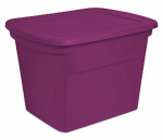 Sterilite 17314W08 Storage Tote, Fuchsia, 18-Gal., Must Order in Quantities of 8