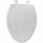 Bemis Mfg 180EC000 Elongated Toilet Seat, Plastic, White