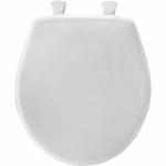 Bemis Mfg 80EC000 Round Plastic Toilet Seat, Easy-Clean & Change  Hinge, STA-TITE , White