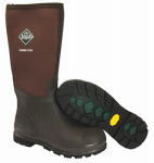 Muck Boot CHCT900-10 Chore Cool High Work Boots, Brown, Unisex Size 10 Men/11 Women