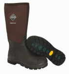 Muck Boot CHCT900-12 Chore Cool High Work Boots, Brown, Size 12 Men