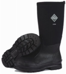 Muck Boot CHH000A-7 Chore High Work Boots, Black, Unisex Size 7 Men/8 Women