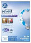 G E Lighting 67770 Reveal Halogen Light Bulbs, Soft White, 43-Watt, 4-Pk.