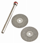 Forney Industries 60250 Diamond Wheel Kit, .75-In. With 1/8-In. Mandrel, 3-Pc.