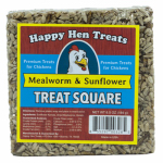 Happy Hen Treats 17080 Poultry Treats, Mealworm & Sunflower Squares, 6.5-oz.