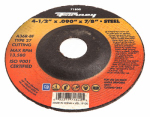 Forney Industries 71800 Cutting Wheel, Type 27, 4.5 x .090-In.