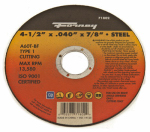 Forney Industries 71802 Cutting Wheel, Type 1, 4.5 x .040-In.