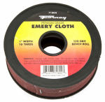 Forney Industries 71804 Emery Cloth Bench Roll, 120-Grit, 1-In. x 10-Yard