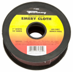Forney Industries 71805 Emery Cloth Bench Roll, 180-Grit, 1-In. x 10-Yard