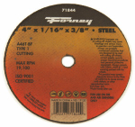 Forney Industries 71844 Cutting Wheel, Type 1, 4 x 1/16-In.