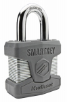 Kwikset 90260-001 SmartKey Padlock, Laminated Steel, 1-1/8-In.