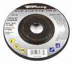 Forney Industries 71886 Grinding Wheel, Type 27, 4.5 x .25-In.