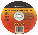 Forney Industries 71892 Cutting Wheel, Type 1, 7 x 1/8-In.