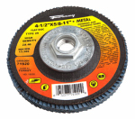 Forney Industries 71920 Jumbo Blue Zirconia Flap Disc, Type 29, 40-Grit, 4.5-In.