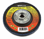 Forney Industries 71921 Jumbo Blue Zirconia Flap Disc, Type 29, 60-Grit, 4.5-In.