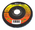Forney Industries 71927 Blue Zirconia Flap Disc, Type 27, 60-Grit, 4.5-In.