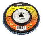 Forney Industries 71931 Jumbo Blue Zirconia Flap Disc, Type 29, 60-Grit, 4.5-In.