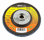 Forney Industries 71932 Jumbo Blue Zirconia Flap Disc, Type 29, 80-Grit, 4.5-In.