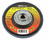 Forney Industries 71933 Jumbo Blue Zirconia Flap Disc, Type 29, 120-Grit, 4.5-In.