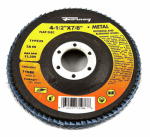 Forney Industries 71986 Blue Zirconia Flap Disc, Type 29, 60-Grit, 4.5-In.