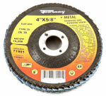Forney Industries 71991 Blue Zirconia Flap Disc, Type 29, 36-Grit, 4-In.