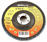 Forney Industries 71992 Blue Zirconia Flap Disc, Type 29, 60-Grit, 4-In.