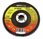 Forney Industries 71993 Blue Zirconia Flap Disc, Type 29, 80-Grit, 4-In.
