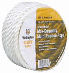 Wellington Cordage 10989 3/8-Inch x 50-Ft. Silvery White Nylon Rope
