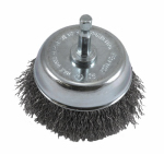 Forney Industries 72731 Crimped Wire Cup Brush, 3 x .25 x .012-In.