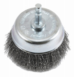 Forney Industries 72732 Crimped Wire Cup Brush, 3 x .25 x .008-In.