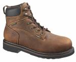 Wolverine Worldwide W10080 07.5EW Brek Waterproof Boots, Extra Wide, Brown Leather, Men's Size 7.5