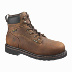 Wolverine Worldwide W10080 07.5M Brek Waterproof Boots, Medium Width, Brown Leather, Men's Size 7.5