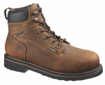 Wolverine Worldwide W10080 08.5EW Brek Waterproof Boots, Extra Wide, Brown Leather, Men's Size 8.5