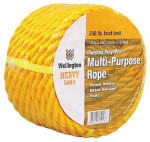 Wellington Cordage 15027 1/2-Inch x 50-Ft. Yellow Polypropylene Rope