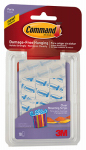 3M 17807CLR-ES Party Mounting Strips, Clear, Small, 4-Pk.