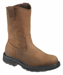 Wolverine Worldwide W04707 07.0EW Steel-Toe Work Boots, Extra-Wide, Brown Nubuck Leather, Men's Size 7