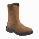 Wolverine Worldwide W04707 07.5EW Steel-Toe Work Boots, Extra-Wide, Brown Nubuck Leather, Men's Size 7.5