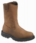 Wolverine Worldwide W04707 09.5EW Steel-Toe Work Boots, Extra-Wide, Brown Nubuck Leather, Men's Size 9.5