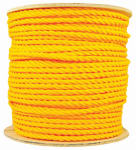 Wellington Cordage 15034 Polypropylene Rope, Yellow, Twisted, 0.5-In. x 600-Ft.