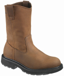 Wolverine Worldwide W04727 10.5M Slip-Resistant Work Boots, Medium Width, Brown Nubuck Leather, Size 10.5