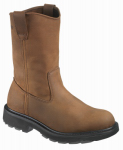 Wolverine Worldwide W04727 11.5M Slip-Resistant Work Boots, Medium Width, Brown Nubuck Leather, Size 11.5