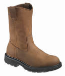 Wolverine Worldwide W04727 10.5EW Slip-Resistant Work Boots, Extra Wide, Brown Nubuck Leather, Men's Size 10.5